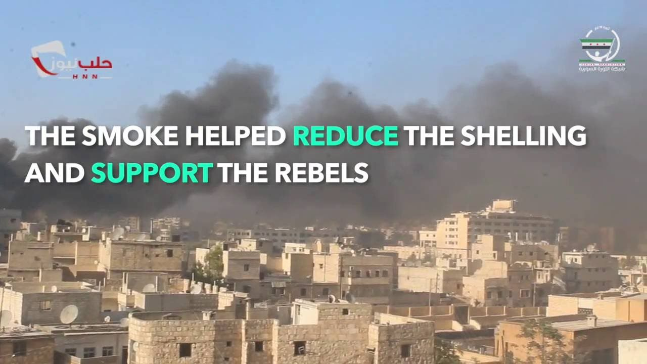 WATCH: Kids make #NoFlyZone in #Aleppo by burning tires!