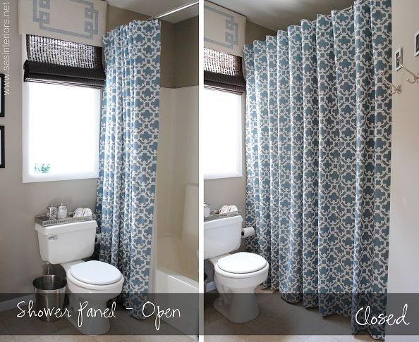 Make Any Curtain Into A Shower Curtain Long Shower Curtains Shower Curtain Lengths Tall Shower Curtains