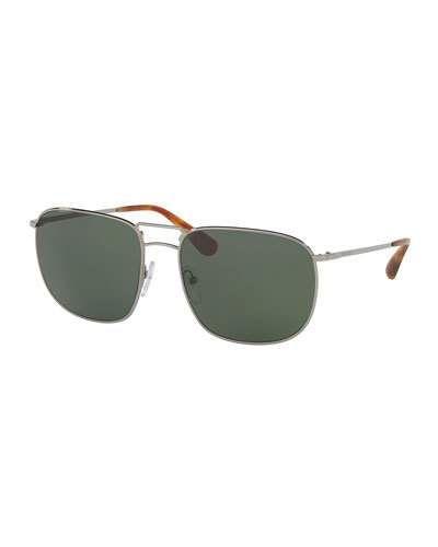 91051ce76a98 PRADA Men S Classic Metal Square Sunglasses
