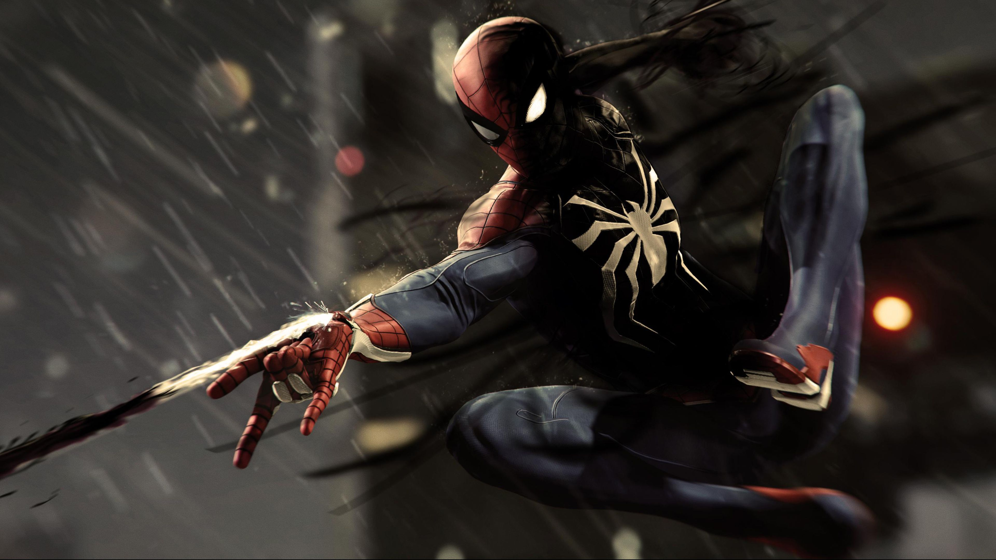 Black Spiderman Ps4 Pro 4k Superheroes Wallpapersreddit Wallpapers Superheroes Wallpapers Spiderman Wallpa Ipad Pro Wallpaper Spiderman Ps4 Android Wallpaper