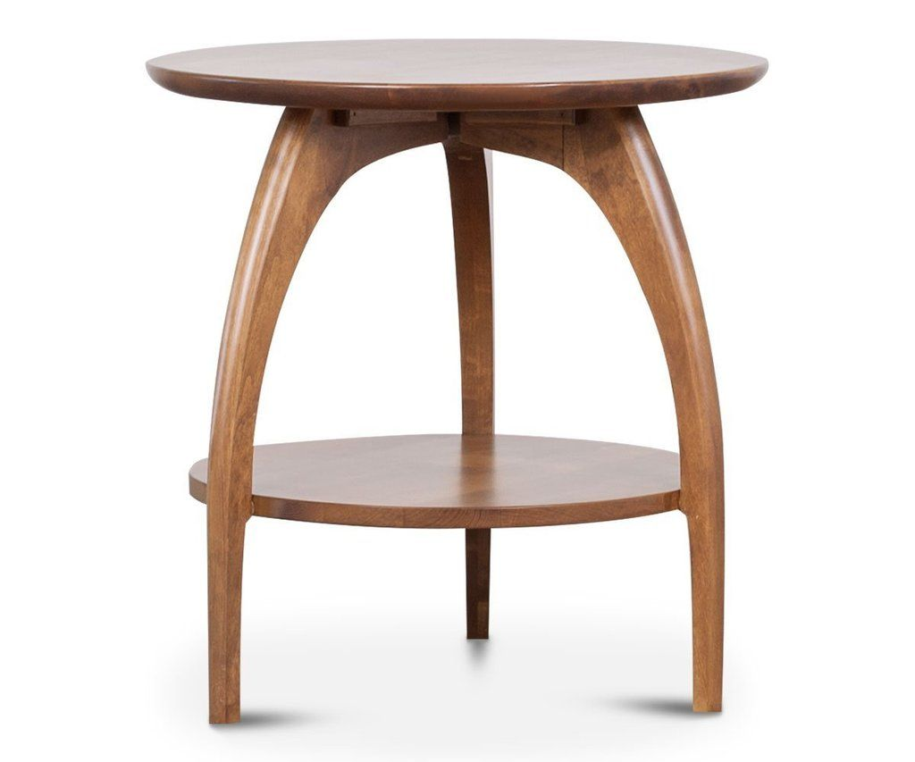 Tibro End Table Round End Tables Oak Furniture Living Room Living Room Stools