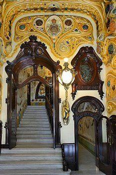 Interior Casa Comalat, Modernisme Barcelona Catalonia | My Mother ...