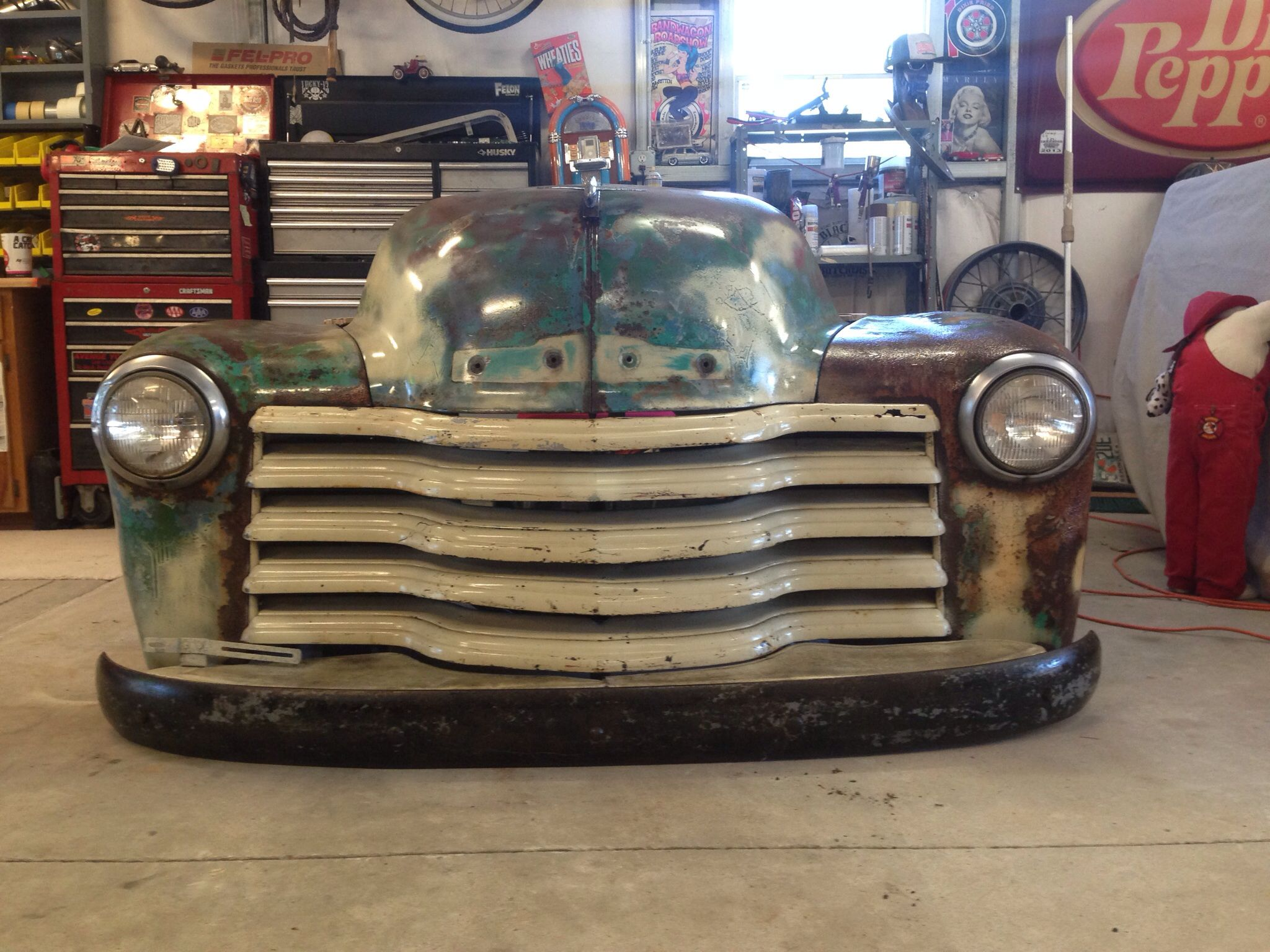 Front Of 51 Chevy Desk Rat Rod Furniture 53 Chevy Truck