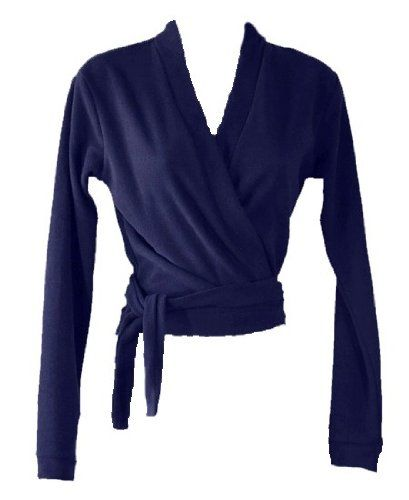Women Long Sleeve Warm Up Wrap Sweater-Navy Blue-W025 (Small ...
