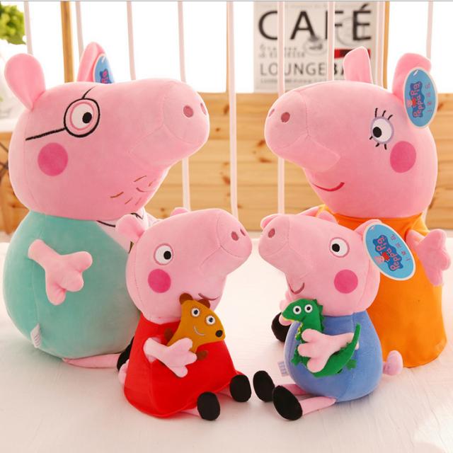 4 Peppa Pig Schweine Peppa Wutz Familie Plüschtiere Plüsch Plush Set ...