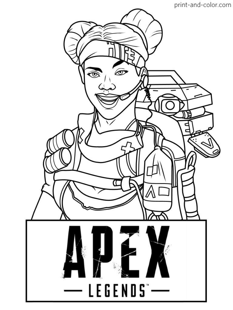 Apex Legends Coloring Pages Print And Color Com In 2020 Coloring Pages Coloring Pages For Boys Colouring Pages