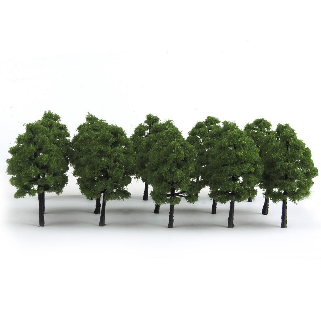 20pcs Dark//Light Green Trees Model Train Layout Wargame Forest Scenery HO OO