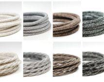 Premium Vintage Fabric Cable | Italian fabric flex | 3 core | sold per meter | Multiple Colours