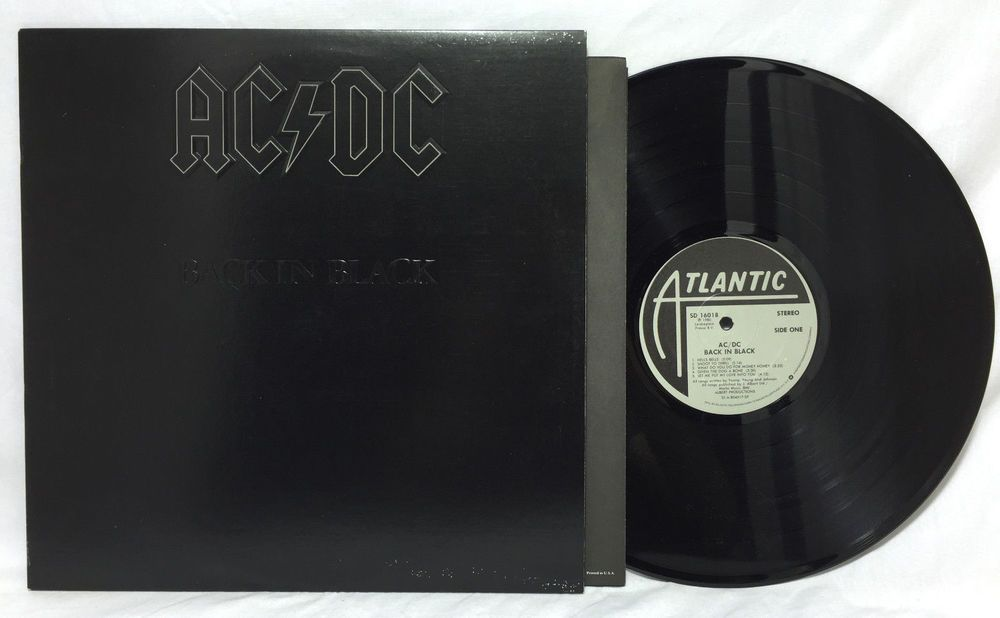 Ac Dc Back In Black Vinyl Record Album Lp Sd16018 1980 Masterdisk