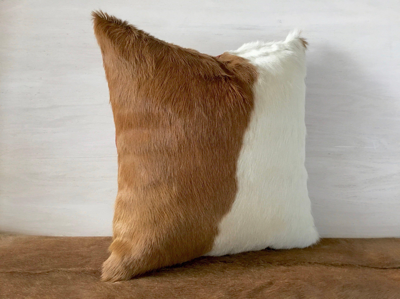Soft Brazil Cowhide Pillow Cover Lumbar 16x16 Etsy Cowhide Pillows Cowhide Pillow Cover Pillows