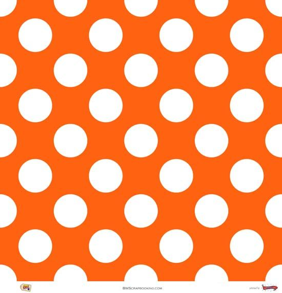 Orange Polka Dot Paper | patterns 4 K+Y | Pinterest ...
