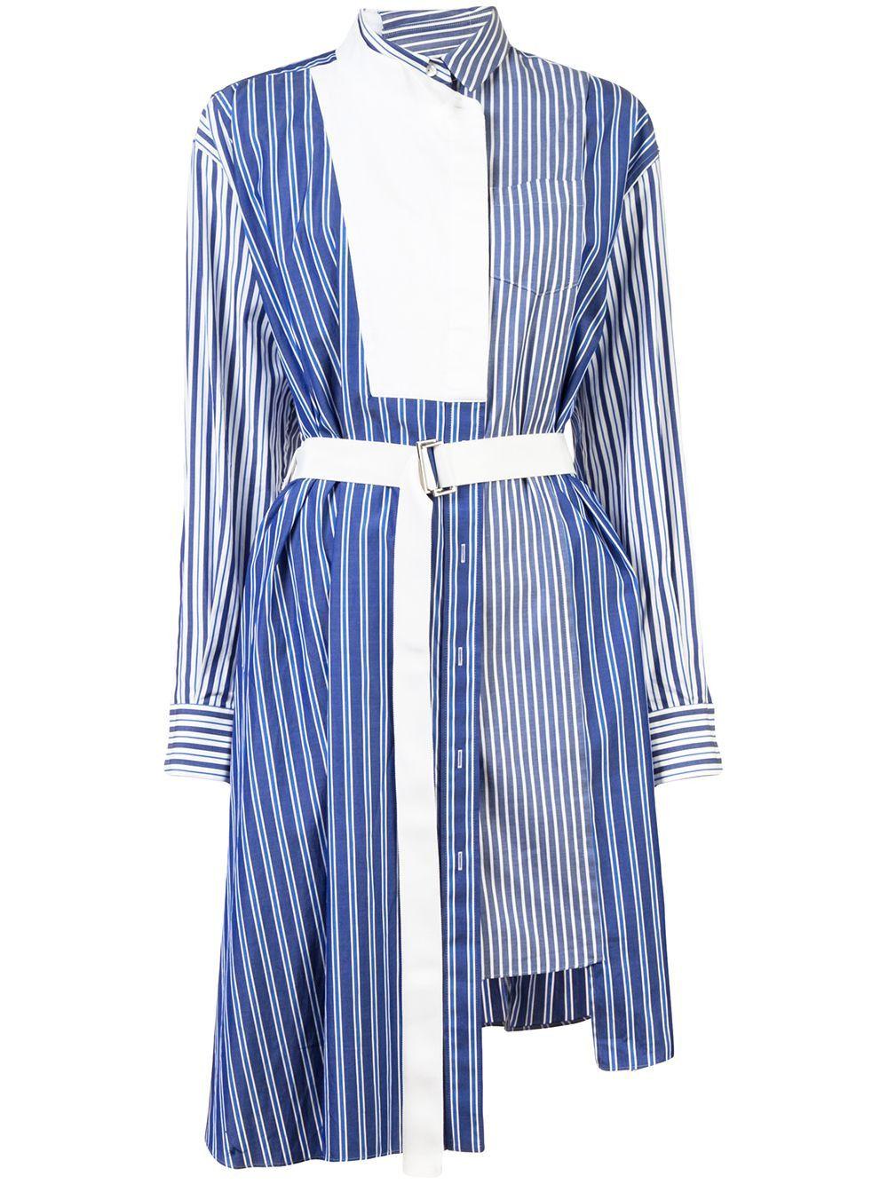 1b9898c493e SACAI striped shirting belted wrap dress.  sacai  cloth