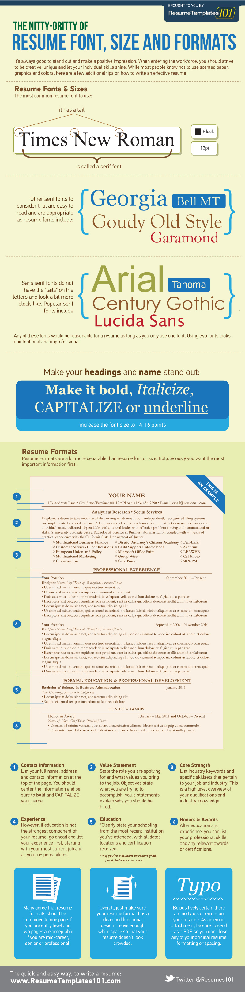 Make Your Resume Look Better The Nitty Gritty Of Resume Font