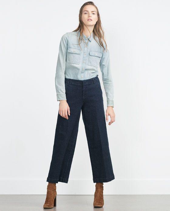 050e34ff ZARA - WOMAN - DENIM SHIRT | Zara Must Have's | Denim shirt, Light ...