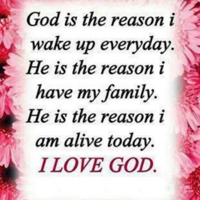 Thank God I M Alive Quotes: God Is The Reason I Wake Up Everyday. He Is The Reason I