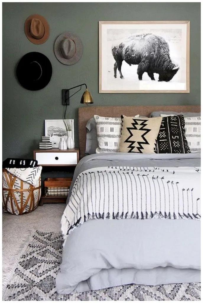 50 Modern Bedroom Design Ideas For A Dreamy Master Suite 16 Apartment Bedroom Decor Green Bedroom Decor Olive Green Bedrooms