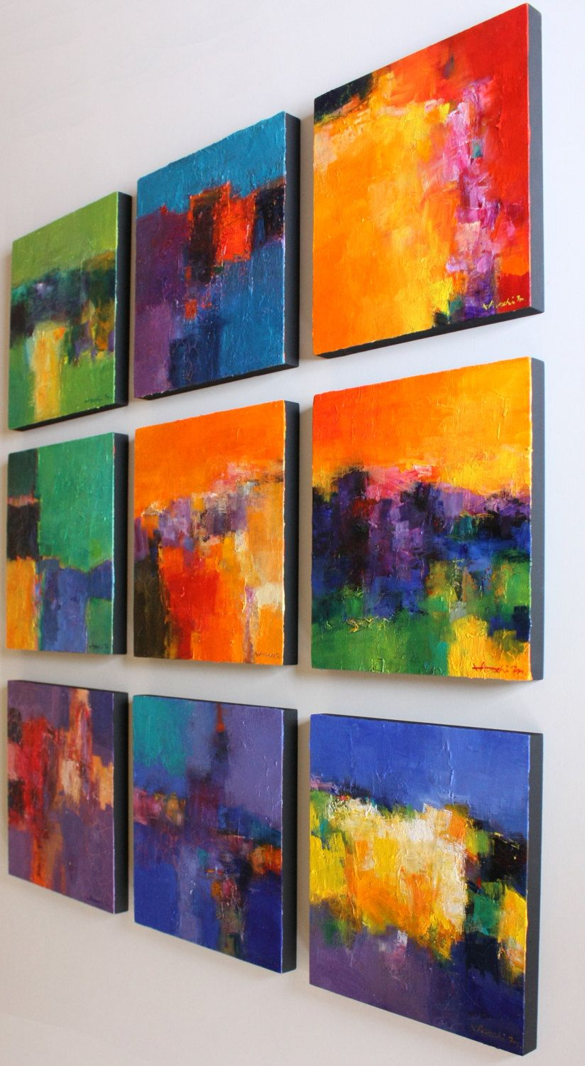 Small abstract painting Original oil painting Modern Art