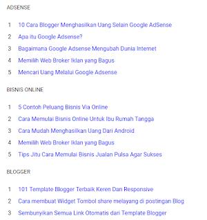 Cara Membuat Peta Situs Atau Daftar Isi Di Blogger Per Label