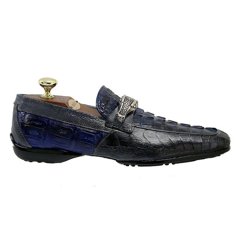 Mauri 9118 Blue Crocodile Shoes Mauri9118blues 595 00