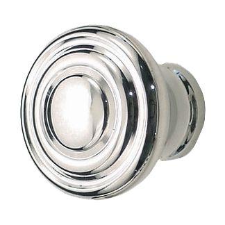 Great Round Deco Cabinet Knob, Polished Nickel