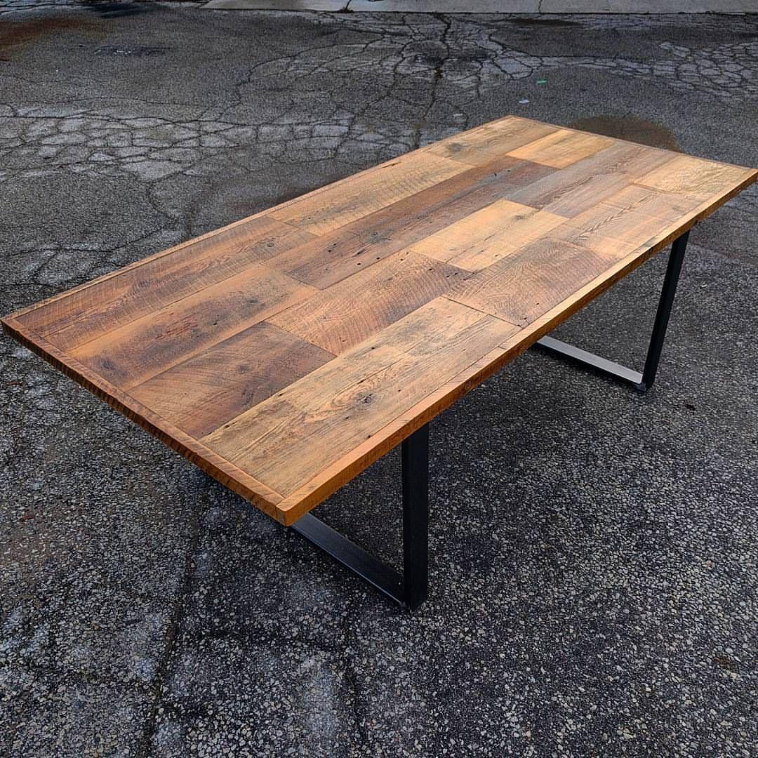 Large Reclaimed Barn Board Harvest Table By Barnboardstore.com