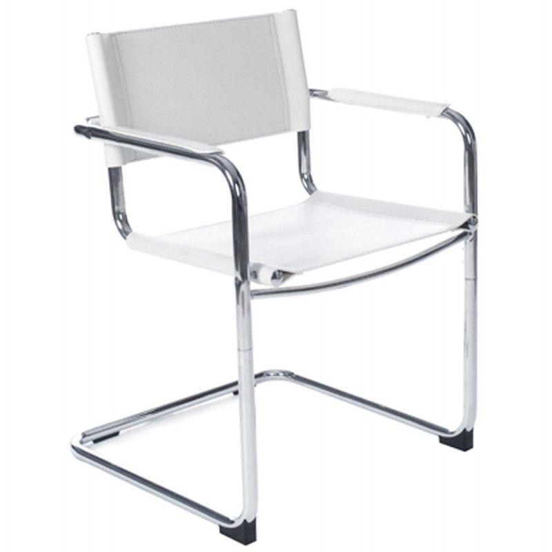 Cette Chaise design TAHITI en polyurethane résistant et métal chromé ( blanc) convient aussi pour les professionnels pour les salles d attente ou  les ... fbeee8f65a6b