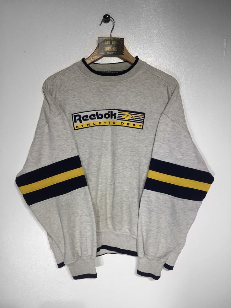 VINTAGE Reebok Sweat | Mens sweatshirts hoodie, Sweatshirts