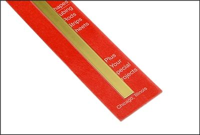 Solid Brass Strip 016 Inch Thick X 1 4 Inch Wide X 12 Inches Long Pkg Of 20 Solid Brass Stripping Brass