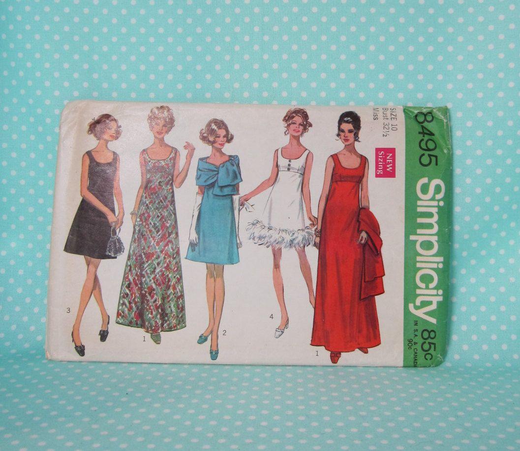 Vintage 1960s Prom Dress Pattern Simplicity 8495 Size 10 Etsy Prom Dress Pattern 1960s Prom Dress Dress Pattern [ 916 x 1057 Pixel ]