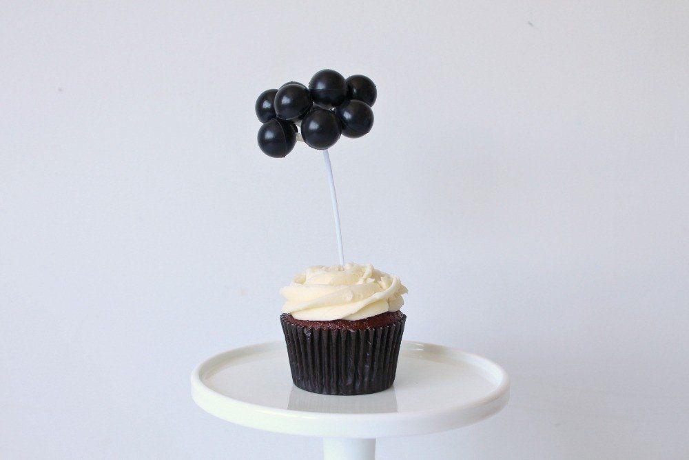 Black balloon cake topper balloon cake black balloons