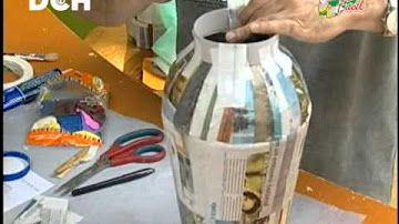 jarron gigante de cartón y periódico parte #1 - YouTube