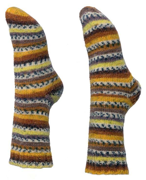 Toe-Up Socks Easy Knitting Pattern | Sock knitting ...
