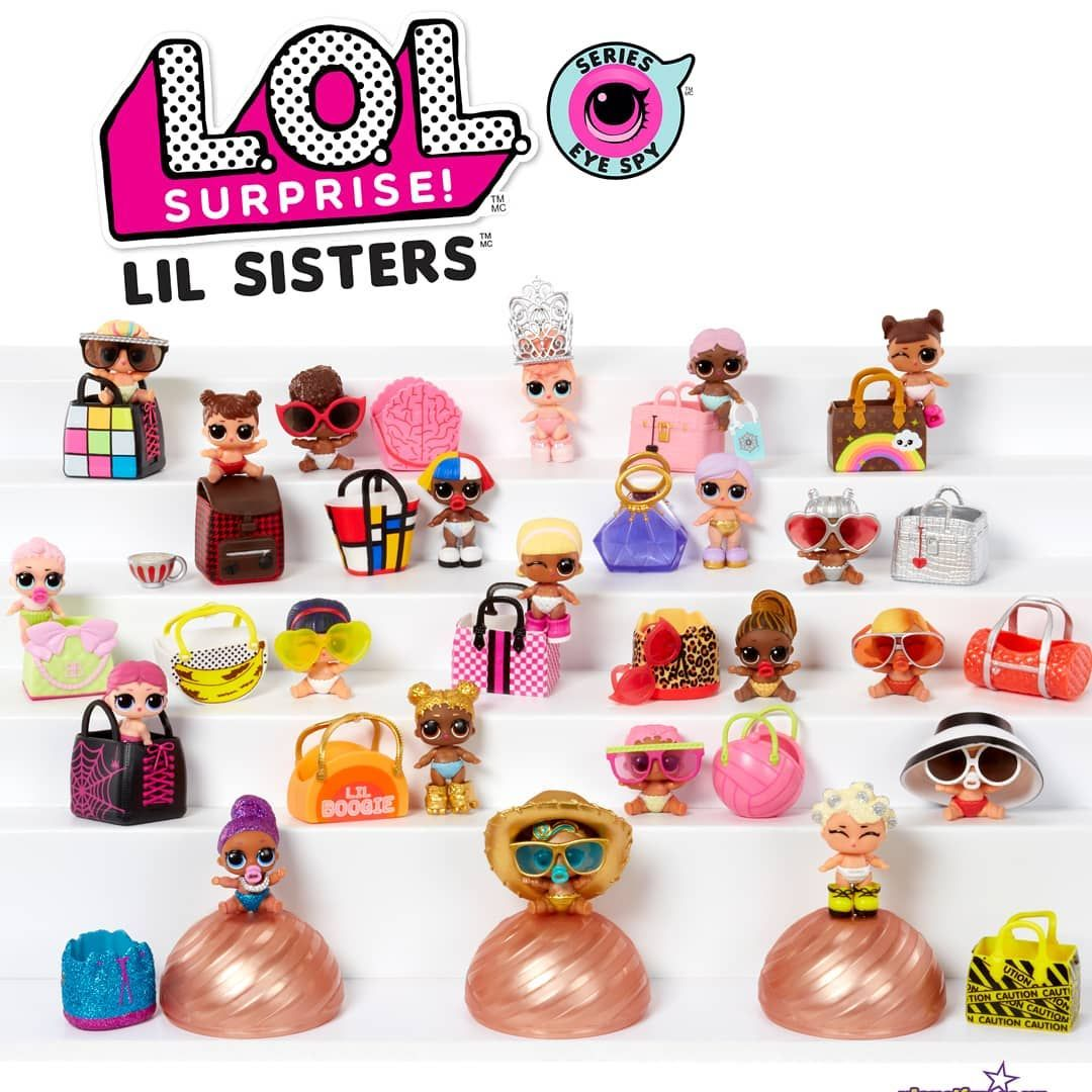 Eye Spy Lil Sisters 4-Pack Doll Ball Wave 2 Series LOL Figure L.O.L Surprise