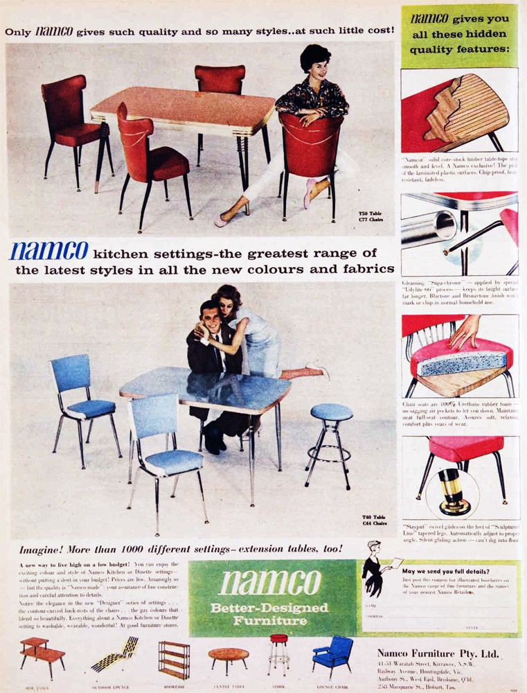 Charmant Australia 1960   Namco Kitchen Settings And Furniture Vintage  Advertisements, Adult Coloring, Clever,