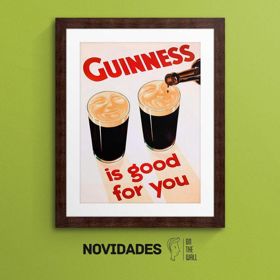 Guinness is good for you - Vintage Lavoie | Crie seu quadro com essa imagem https://www.onthewall.com.br/guinness-is-good-for-you #quadro #canvas #moldura #guinness