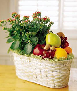 FTD Fruits and Flowers Gift Basket USA and Canada