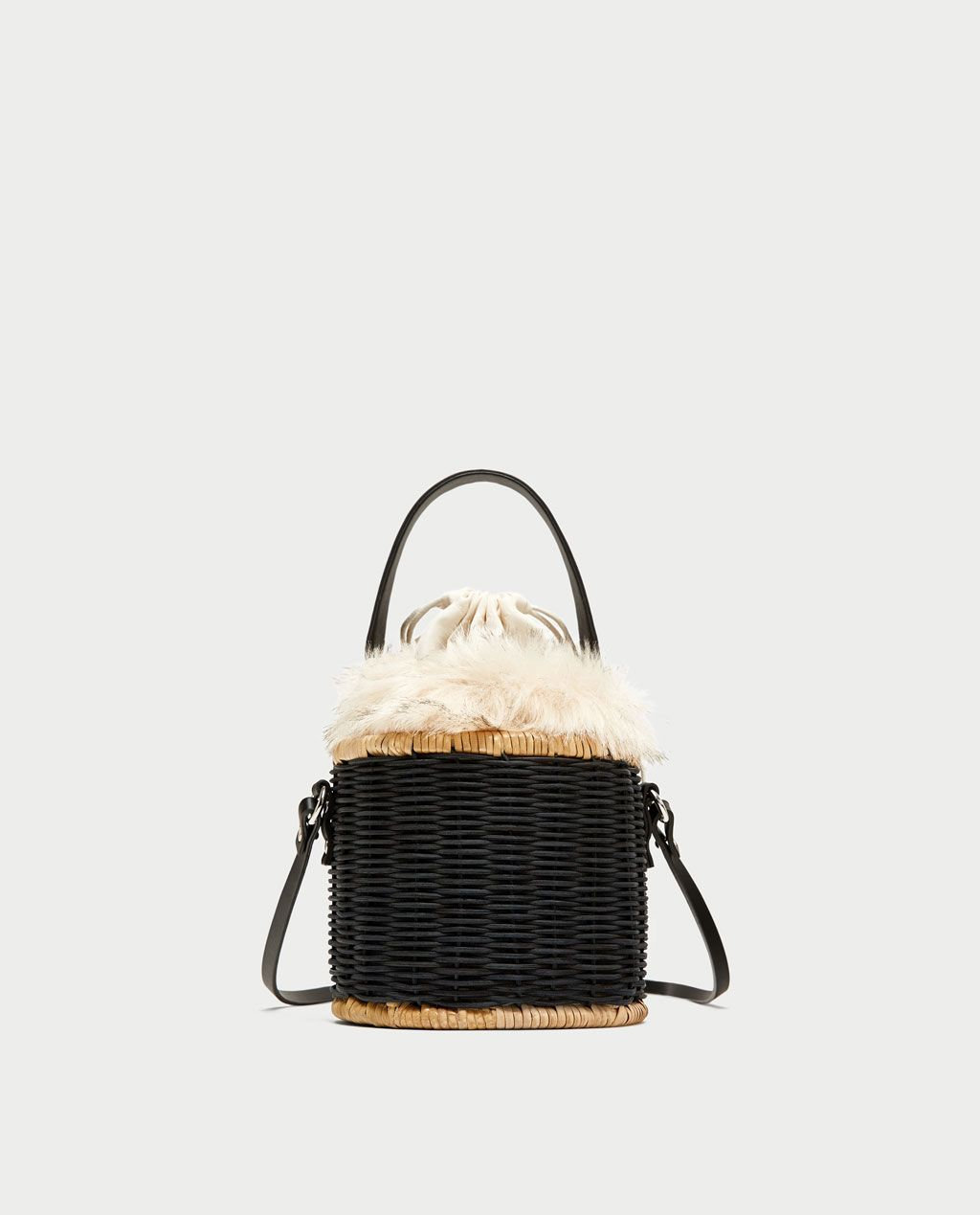 Raffia And Fur Bag Priceless Zara Gifts Basket