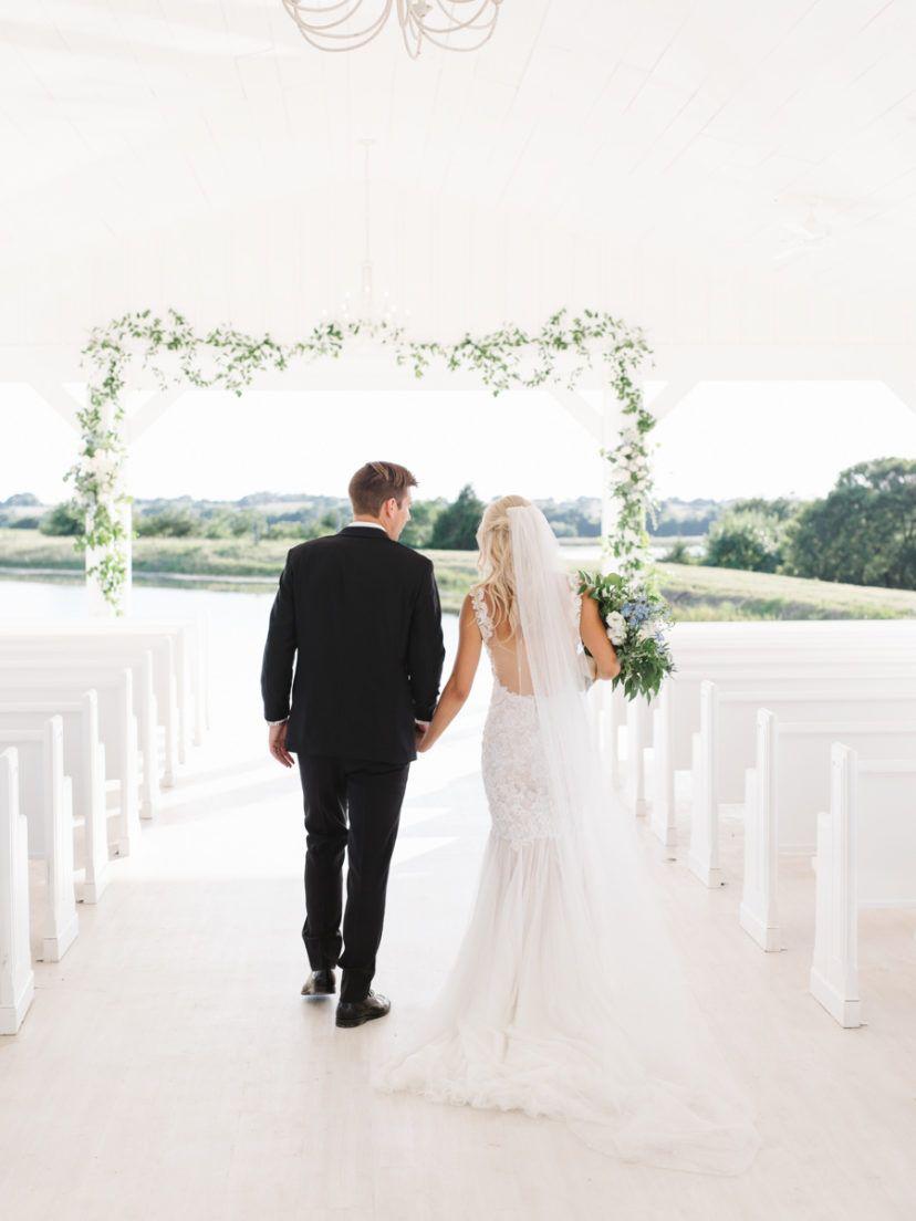Under the sea wedding decoration ideas  Classic Blue Texas Wedding in an Open White Chapel  Wedding