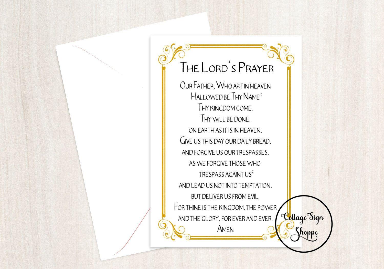 The Lords Prayer Christian Wall Art Biblical Greeting Cards