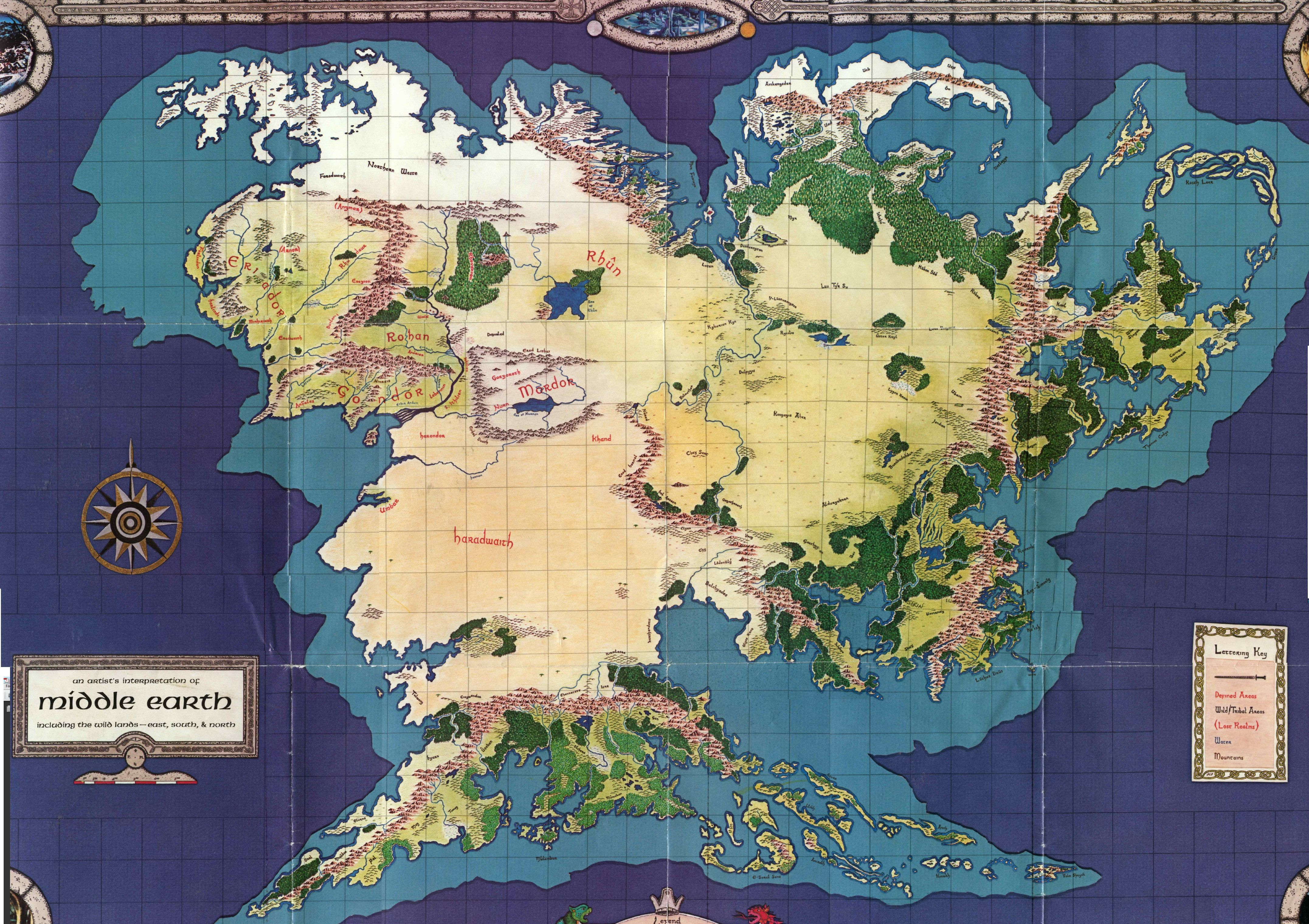 Map of Middle Earth | middle earth fanatic | Middle earth map