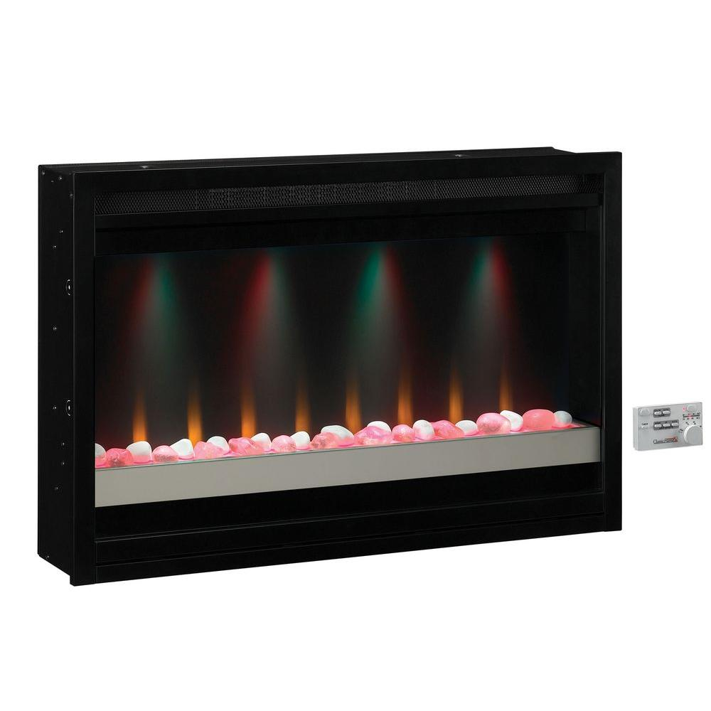 Spectrafire 36 In Contemporary Built In Electric Fireplace Insert