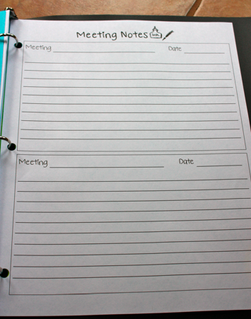 how to take meeting notes template