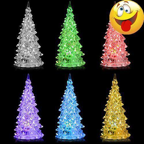 Mini Store White Pine Tree Small Christmas Mood Lamp LED Lights 7