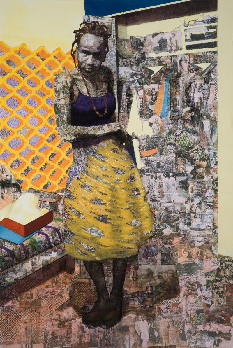 We are enjoying the work of Nigerian-born artist Njideka Akunyili this morning. Using acrylic, collage, charcoal, colored pencil, and even Xerox trans...