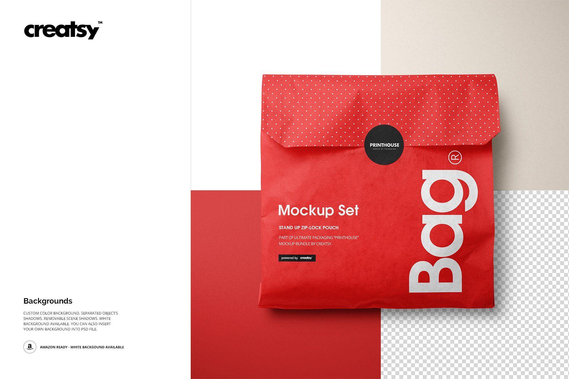 Download Sandwich Snack Paper Bag Mockup Set Bag Mockup Free Business Card Templates Brown Paper Bag