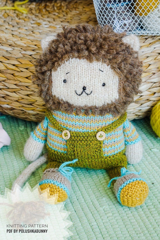 Toy knitting patterns pdf Cute Lion Toy by PolushkaBunny # ...