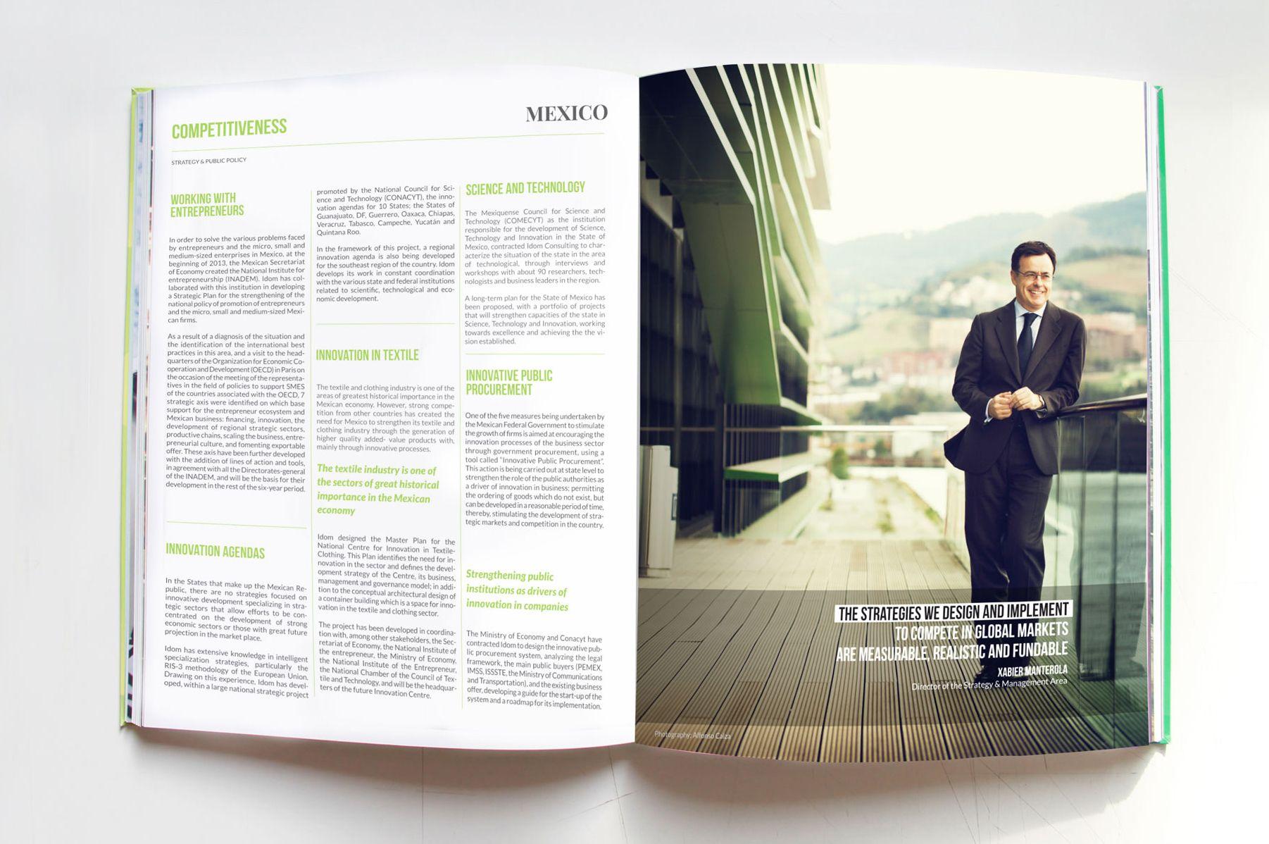Idom Annual report 2014 designed by Muak Studio www.muak.cc/