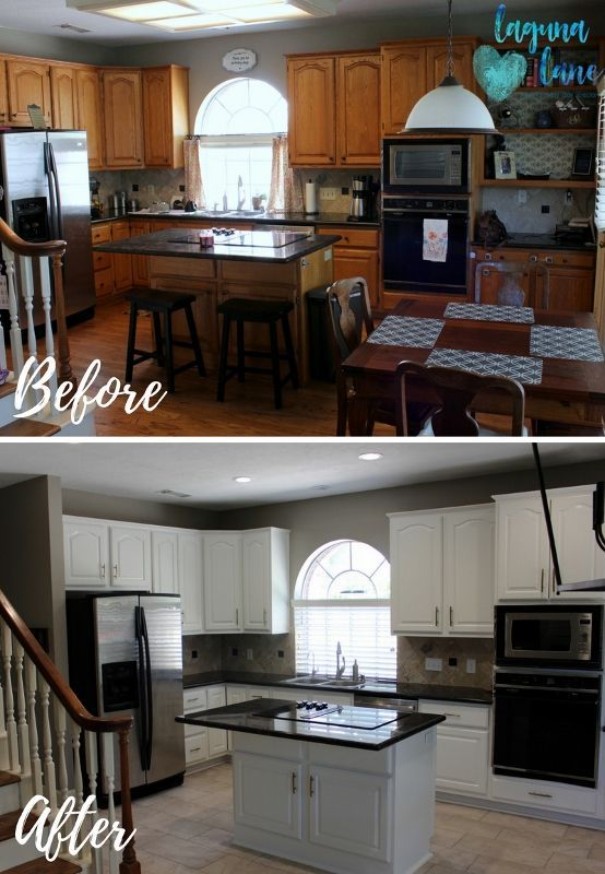 Painted Kitchen Cabinet Update - Small Remodel, Big Change ...