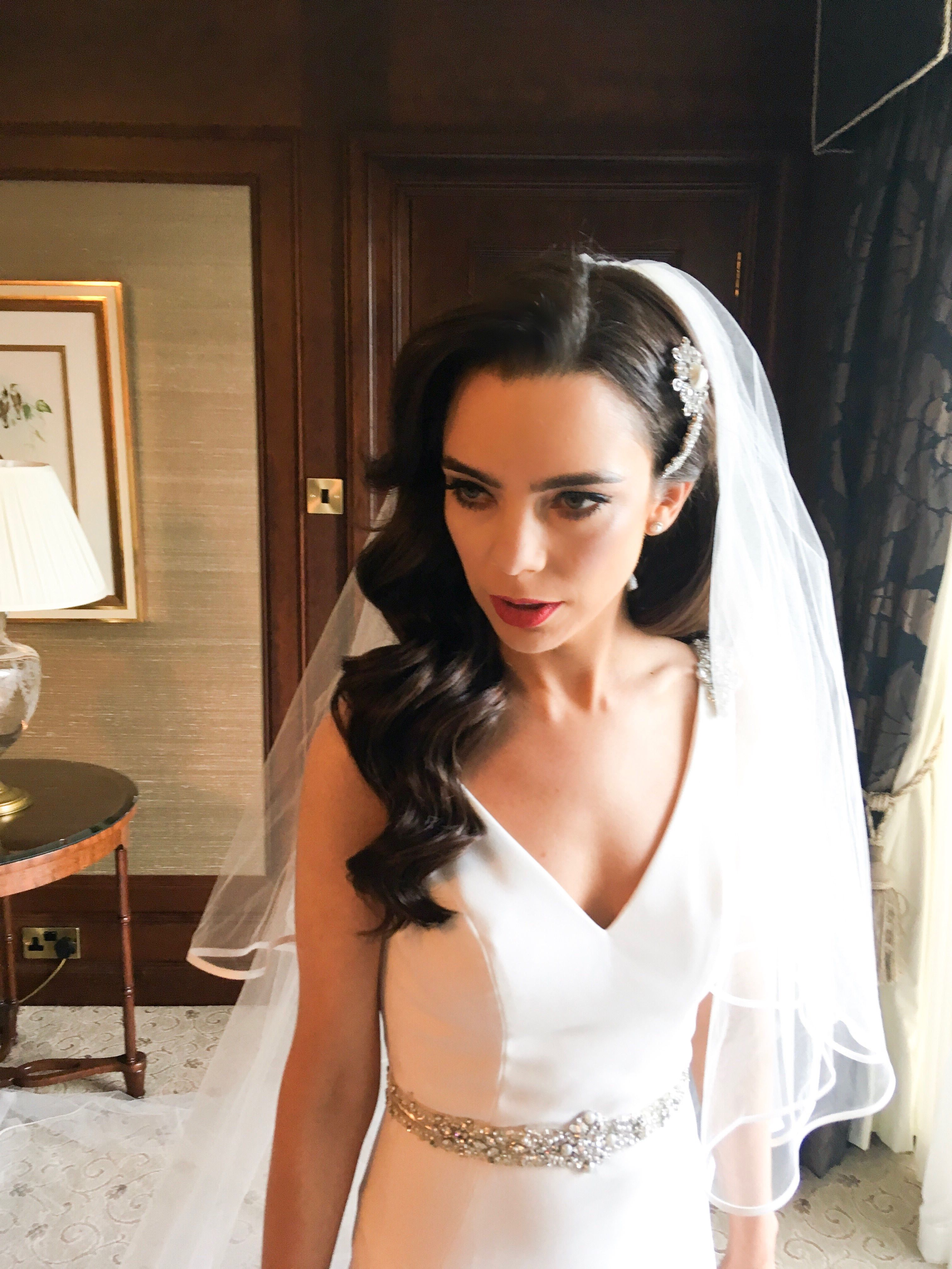 hollywood waves | wedding hair by aisling hamill in 2019