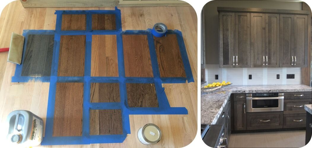 Updating Oak In Your Home | K. Renee | Des Moines | Staining Oak Cabinets, Rustic Kitchen Design, Flooring